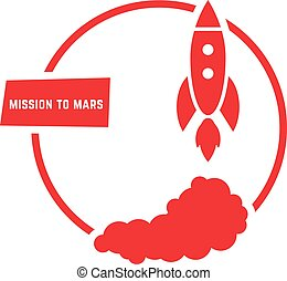 red mission to mars logo