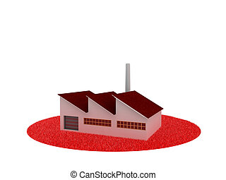 red modern factory