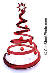 red Modern Glass Christmas Tree