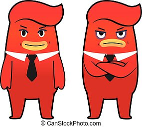 Red monster cartoon character