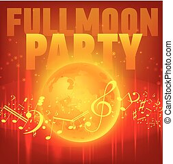 Red Moon Beach Party Flyer.