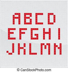 Red Mosaic Alphabet Part One