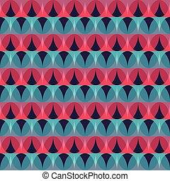 red mosaic seamless pattern