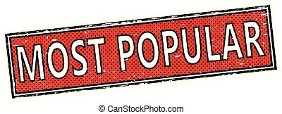 red most popular square grunge sign stamp
