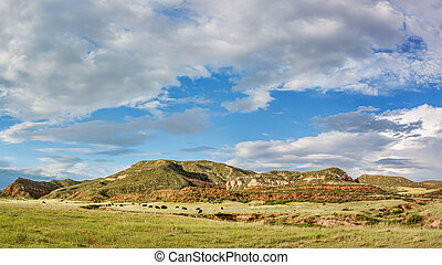 Red Mountain Open Space panorama - mountain ranch landscape ...