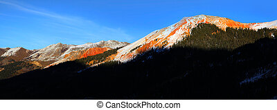 Red Mountain peak - Red mountain peak at the Million dollar ...