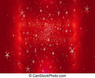 Red movie or theater curtains with