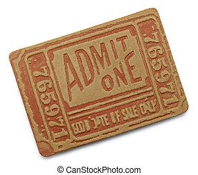 Red Movie Ticket