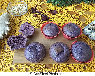 Red muffins cakes Hibiscus - Hibiscus muffins red cakes,...