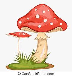 Red Mushroom cartoon