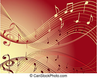 Music notes - Red  Music notes