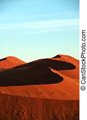 Red namib dune under