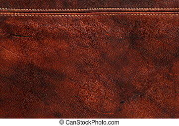 Red natural leather background