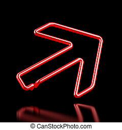 Red Neon arrow