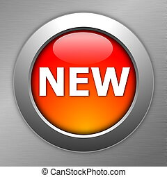 red new button