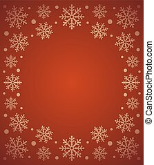 Red New Year vector card