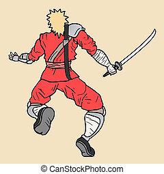 Red ninja - creative design fo red ninja