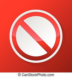 Red NO sign icon