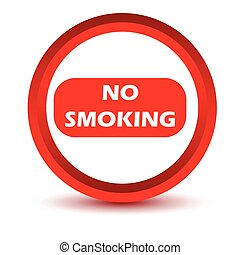 Red no smoking icon