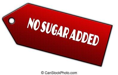 Red NO SUGAR ADDED label.