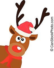 red nose deer - vector red nose deer