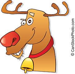 Red nose reindeer - Illustration of red nose reindeer