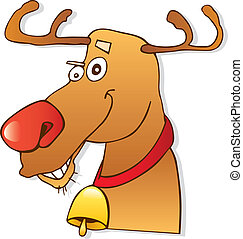 Red nose reindeer - Illustration of red nose reindeer