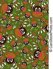 Red Nose Reindeer Pattern - Cute Cartoon Rudolph the Red...