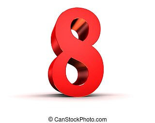 red number - 8