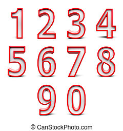 Red numbers set #2