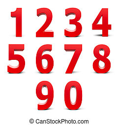 Red numbers set