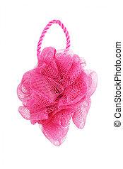 Red Nylon Mesh Flower