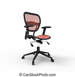 Red Office Chair - Studio Shot
