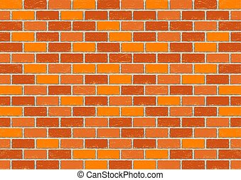 Red old brick background