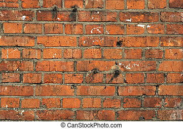 red old brick textured wall background
