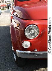 Red oldtimer popular car