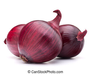 red onion bulb isolated on white background cutout