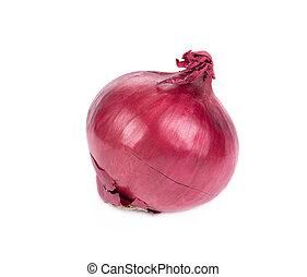 Red onion. Isolated on a white background.