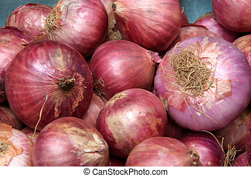 Red Onions - Onions (Allium cepa) are swollen bulbs with ...