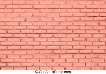 Red or brown wall of Cement Block