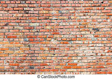 Red orange brick wall texture