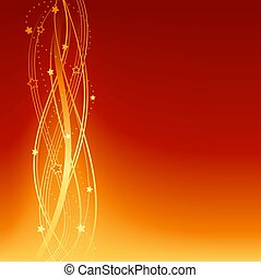 Red Orange festive Christmas, New Years, anniversary background