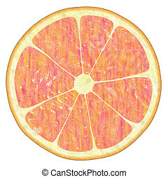 red orange, grapefruit texture on white, suits for ...