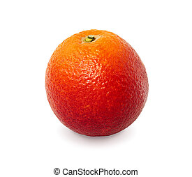Red orange on white background with clipping path.
