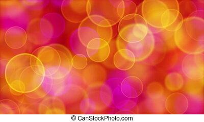 red orange pink yellow circle bokeh