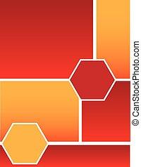 Red Orange Squares