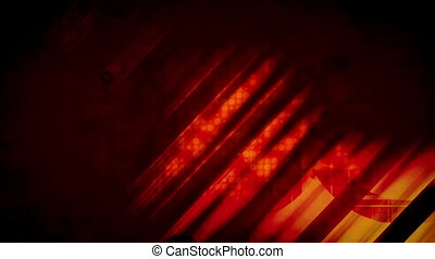 Red orange streaks and circles new retro looping background