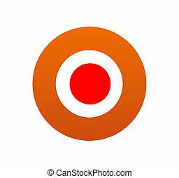 Red orange target
