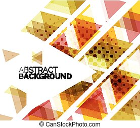 Red, orange, yellow triangles. Web abstract background