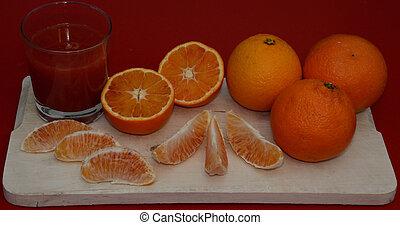 red oranges of Sicily juice